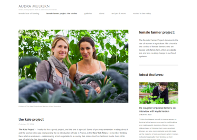 Les Sourciers - female farmer the kale projet